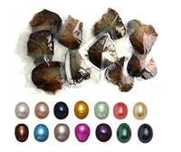 Wholesale Valentine Movie - Love Wish Pearl Oyster With 1-10 Piece Dyed Oval Pearl Inside For Valentines Mothers Day Birthday Gifts Pearl Wedding Party 10 Colors 6-8mm