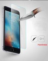 iphone klares frontglas großhandel-Für iPhone 6 6 s 7 8 Plus X Front Explosionsgeschützte 9 H 2.5D Klar Gehärtetem Glas Displayschutzfolie