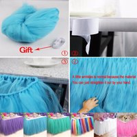 Wholesale baby craft supplies for sale - Group buy Eco Friendly color Wedding Party Tulle Tutu Table Skirt Birthday Baby Shower Wedding Table Decorations Diy Craft Supplies