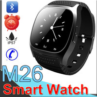 Wholesale Waterproof Smartwatches M26 Bluetooth Smart Watch With LED Alitmeter Music Player Pedometer For Apple IOS Android Smart Phone XCT26