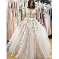 Wholesale Gray Bamboo Flooring - Vintage South Africa Prom Gown 2018 V Neck Lace Applique Zipper Sweep Train Arabic Dresses Party Evening Wear Homecoming Formal Wear 2017