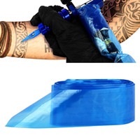 suministros profesionales al por mayor-100 Unids Plástico Azul Tatuaje Clip Cable Mangas Cubiertas Bolsas Suministro Nuevo Accesorio de Tatuaje Profesional Caliente Accesorio de Tatuaje