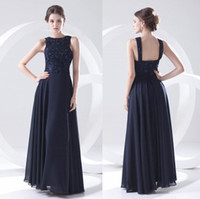 Wholesale best winter wear - Best Sell Navy Blue Chiffon Summer Bridesmaid Dresses 2018 Elegant Jewel Maid of Honor Gowns Pleated Formal Long Party Prom Wear ZPT230