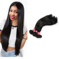 işlenmemiş saç toptan satış-Toptan Fiyat Perulu Düz Saç% 100% İşlenmemiş İnsan Saç Doğal siyah Perulu Bakire Saç Düz Uzatma