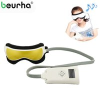 masajeador de vibración infrarroja al por mayor-Presión de aire Masajeador de ojos Gafas Música Instrumento de ojos inalámbrico Frotamiento Vibración Calentador infrarrojo Dispositivo de protección ocular