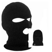Wholesale army full face mask online - Black Cycling Full Face Mask Warm Winter Army Ski Hat Neck Warmer Face Protector Road Mountain Bike Face Mask