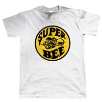 ingrosso muscolo americano-Super Bee, Mens American Muscle Car T Shirt, regalo per papà Him Mens 2018 fashion Brand T Shirt O-collo 100% cotone T-Shirt Top Tee personalizzato