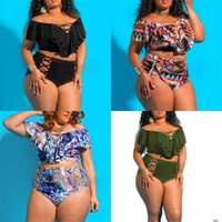 Wholesale swimwear plus size women two piece for sale - Lady Bikini Set Two Piece Suits With Chest Pad Sexy Femme Swimsuit Swimwear Woman Plus Size Divided Body High Quality sc V