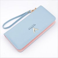 Wholesale New Fashion Girls Photos - New Women Long Zipper Purse Luxury Ladies Purses Female Brand Wallets Woman Wallet Leather Card Holder Clutch girl hand bags