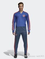 Wholesale New Belgium - Argentina new 2018 Belgium training suit bench tracksuit OZIL KROOS 2018 19 E.HAZARD R.LUKAKU Spain Colombia football tracksuit chandal