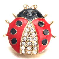 Wholesale cute buttons snaps for sale - Group buy Cute Beetle Random Send Two color Crystal Metal Snap button Random Send Available mm Button Female Jewelry TZH30