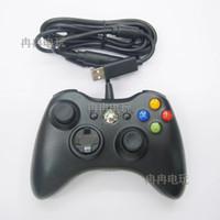 microsoft pc game controller toptan satış-1 adet Microsoft Xbox Slim Için USB Kablolu Joypad Gamepad Denetleyicisi 360 ADET Windows7 Joystick Oyun Denetleyicisi