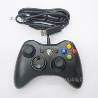 controlador de juego con cable al por mayor-1pc USB con cable Joypad Gamepad Controller para Microsoft Xbox Slim 360 PC Windows7 Joystick Game Controller