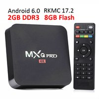Wholesale Smart Tv Player Android - 2G8G MXQ Pro Android TV Box RK3229 Rockchip Android6.0 Smart TV Box Fully Loaded RKMC 17.4 Streaming Media Player