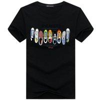 t chaussures homme achat en gros de-Mens Designer T-shirts Top Qualité Nouvelle Mode Marée Chaussures Imprimé Hommes Tshirt Tee Shirts Tops Hommes T-shirt Couleur Multiples Sélectionnable