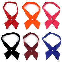 553a73630 Wholesale tie cross online - College Style Men Women Cosplay Ties Cross  Design Adjustable Neckties Preppy