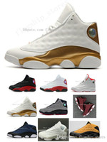 Wholesale army play - 13 basketball shoes history of flight HOF DMP black cat he got game play off barons sneakers men women Sports shoes US5.5-13