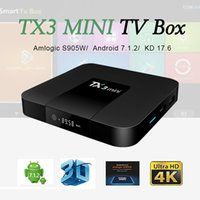 Wholesale Core Lead - Hot TX3 Mini android tv box Amlogic S905W KD 17.6 Steaming Media Player with LED Display Better mxq pro x96 mini