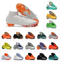 Wholesale boys shoes boots - Mercurial Superfly VI 360 Elite FG TF IC IN KJ 6 XII 12 CR7 Ronaldo Neymar Mens Women Boys High Soccer Shoes 20th Football Boots Cleats
