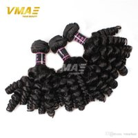Wholesale human loose curl hair bundles resale online - 8A aunty funmi hair bundles Brazilian romance bouncy curls funmi hair human hair extensions inches
