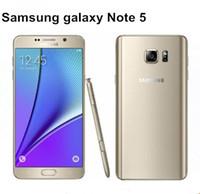 inç nfc toptan satış-Samsung Galaxy Not 5 N920A LTE Cep telefonları octa Çekirdek 4 GB RAM 32 GB ROM 5.7 inç 1440x2560 piksel 16MP Kamera NFC yenilenmiş telefon