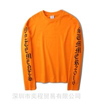 Wholesale women gothic t shirts - Fashion High QualityStyle Heron Preston Men Women Street Luxury Cotton Hoody Casual Loversize loose five color Gothic long sleeved t-shirts