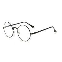 ingrosso occhiali rotondi coreani-Uomini / donne Occhiali da sole rotondi Occhiali da vista con montatura in metallo retro Occhiali da vista coreani con lenti trasparenti Maschile Cerchio ottico femminile Specchio liscio