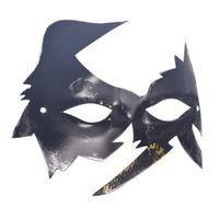 ingrosso scatola masquerade-Maschera da uomo retrò Maschera da ballo brunito argento antico / oro veneziano Mardi Gras Masquerade maschere mascherata maschera