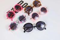Sunglasses for Kids Round Vintage Sun Glasses Boys Girls Designer Adumbral Fashion Children Summer Beach Sunblock Accessories
