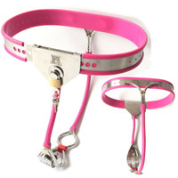 Wholesale Steel Chastity Belts For Females - 2018 New Design Female Chastity Belt Pants Bondage Lock Stainless Steel Chastity Devices Fetish Underwear Sex Toys for Woman G7-5-39A