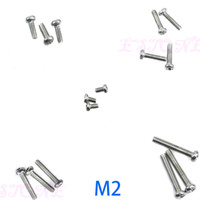 Wholesale Round Nuts - E74 50Pcs M2 3 4 Bolt Screw Nuts Round Length 4-12MM Diameter 2-4mm & M4 M2 Hex Nuts