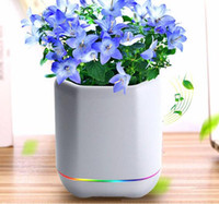 Wholesale Plant Sensor - Smart Music Flower Pots New Private Mode Wireless Bluetooth Stereo Touch Sensor Plant Speaker