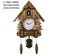 ingrosso orologio da parete moderno-Orologio a cucù Fashion Living Room Wall Clock chiamata Day Time Only 20inch Alarm Clock Qualità Swing Wartch Modern Battery Wall