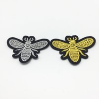 Wholesale stickers for craft - 20pcs Embroidered Sewing Iron on Bees Patches Sewing Patch for clothes applique embroidery DIY Supplies Crafts Sticker
