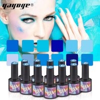 Wholesale YAYOGE Colors ml Nail Gel Polish Blue Series Soak Off UV LED Colored Varnish Gel Lacquer