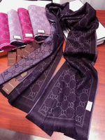 mann capes großhandel-Klassische Modedesignerschals können beide Seiten des Wolljacquard-dunklen Musters 100% für Männer und Frauen Schals Umhang 48 * 180cm benutzt werden