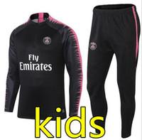 Wholesale children's suit jacket for sale - New kids Paris tracksuit psg soccer jogging jacket MBAPPE NEYMAR JR POGBA jersey Paris child Football Training suit