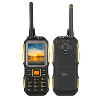 Wholesale dual os chinese phones resale online - Original G1 Rugged Torch Phone Senior old man mobile phone Power bank Loud Speaker bluetooth walike talkie UHF Radio PTT mAh