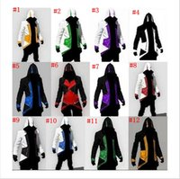chaqueta de la ropa de assassins creed al por mayor-Halloween Christmas Jacket Jacket Cosplay Nueva Llegada Comic Creativo Connor Juego Ropa Assassin Creed 12color MMA719 20pcs