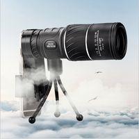 монокуляр hd оптовых-Черный HD Компактный Монокуляр Zoom 50x52 Zoom Телескоп Бинокль высокой мощности высокой четкости Регулируемый Дневное время хорошо для подарка