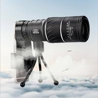 jumelles haute puissance achat en gros de-Monoculaire compact noir HD Zoom Zoom 50x52 Jumelles jumelles haute puissance haute définition réglable, idéal pour un cadeau