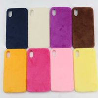 pelz handy fällen großhandel-Warmer Pelz-Haar-weicher TPU Fall für Iphone XR 6.1 Fall für Iphone XS MAX 6.5 Silikon-Gel-Handy-Rückseiten-Haut-Abdeckungs-Art- und Weiseluxus-Telefon-Häute