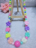 Wholesale Wholesale Teething Necklace Silicone - Kids Accessories Silicone Necklaces Silicone Rose Bead Teething Nursing Necklace -silicone Flower Jewelry Baby Chewable Necklace Baby Gifts