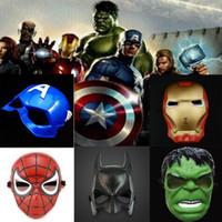 demir sahne toptan satış-Avengers maske süper kahraman maske Örümcek Adam Hulk Kaptan Amerika Batman Demir Adam maske Tiyatro Prop Yenilik veya Çocuklar Favori