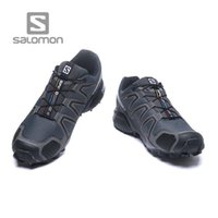Wholesale shoes brands wings - AAA+ quality Solomon man Speed Cross 4 CS SENSE WINGS running shoes Brand Sneakers Athletic Sport Shoes SPEEDCROS Fencing Shoes trainers