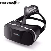 vr audífonos al por mayor-BlitzWolf Original 3D VR gafas de Realidad Virtual Headset HeadMount Immersive Movie para iPhone para Samsung 3,5-6,3 pulgadas Teléfonos