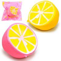 Wholesale Lemon Charms - Squishy 11.5cm Lemon Jumbo kawaii Squishy Big Simulation Fruit Slow Rising Squishies Scented Stress Relief Toy Charms Kids Xmas Gift