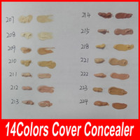 Wholesale Professional Makeup Foundation Palette - 14 colors Der Make up Cover 30g Primer Concealer Base Professional Face Makeup Foundation Contour Palette Makeup Base Free DHL