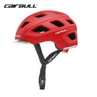 Wholesale helmet bike light online - CAIRBULL Bicycle Helmet Integrally molded Road Mountain MTB Cycling Ultralight Bike City Helmet With LED Warning Lights