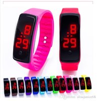 Wholesale soft touch watches for sale - Group buy Colorful Waterproof Soft Led Touch Watch Jelly Candy Silicone Rubber Digital Screen Bracelet Watches Men Women Unisex Sports Wristwatch